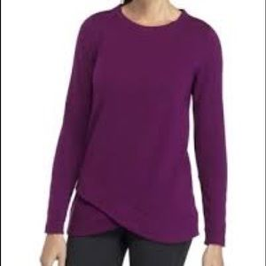 NWT Zelos Violet solid fleece sweatshirt
